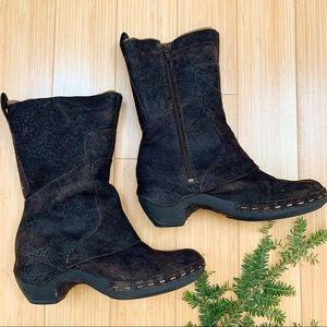 MERRELL LUXE espresso leather boot, 8.